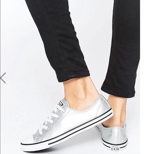 Chuck Taylor  All Star silver metallic sneakers